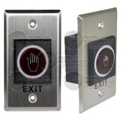 Boton Liberador sin Contacto / Para Contrachapas / Rango de Deteccion hasta 10 cms. / Para Exterior IP55