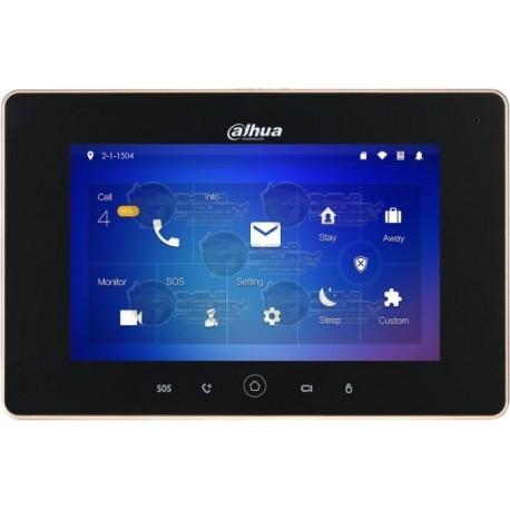 Monitor IP / Touch / 7 Pulg. / Conexion Wi-Fi & Ethernet / POE 802.3AF / SD Hasta 32GB / 8 Camaras IP / 6 Sensores de Alarma