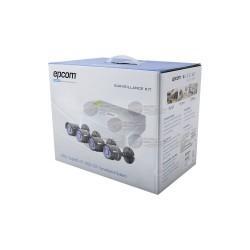 DVR 4 CH / 720p / Hik-Connect / 4 Cam Bullet / Cables / Fuente de Poder Profesional