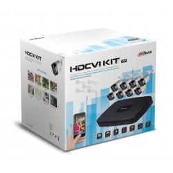 Kit / DVR 8 CH 720P / Trhibrido / 8 Camaras HFAW1000RM28S3 / 20 Mts / IP67 / Accesorios