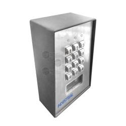 Teclado Exterior/Interior / Antivandálico / 3 Relevadores / Salida Wiegand / 1200 Usuarios / Lector de Proximidad