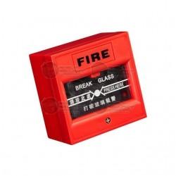 Boton de Emergencia / Rojo / Romper Vidrio / Salida NC y NO / Material a Prueba de Fuego