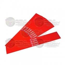 Paquete de Bandas Reflectantes Rojas / 20 Pzas / Para Mástil 001-G0401,001-G0601