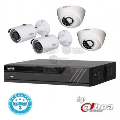 DVR / 4 CH / HDCVI / PentaHibrido / 1080p Lite / H265 / 2 Cam Bullet Metalicas / 720p / HFAW1100S36S3 / 2 Cam Domo HDAW1000R28S3