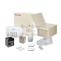 Kit de Alarma Residencial con Sensor de Movimiento y Contactos Magneticos / Incluye: Sirena, Bateria y Transformador