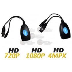 Kit / Transceptores Pasivos 4 en 1 / Energía / Video / HDCVI / HDTVI / AHD / Analogo