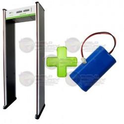 Arco / Detector de Metal / 6 Zonas / Contador de 5 Digitos / LED en Ambas Vistas / Alta Sensibilidad / Batería de Respaldo