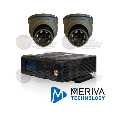 Kit MDVR Movil / 2 Cam Movil / Domo MC303HD / Incluye: DVR con Modulos, 1 Arnes Alarma, 2 Ccables 3Mts, Memoria 128GB