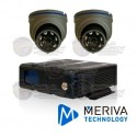 Kit MDVR Movil / 2 Cam Movil / Domo MC303HD / Incluye: DVR con Modulos, 1 Arnes Alarma, 2 Cables 3Mts, Memoria 128GB, Boton de Panico