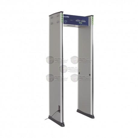 Detector de Metales de 18 zonas / Uso en Interior / Programación con Control Remoto / Contador de Personas