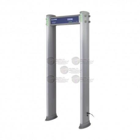 Detector de Metales de 18 zonas / Uso en Exterior / Programación con Control Remoto / Contador de Personas