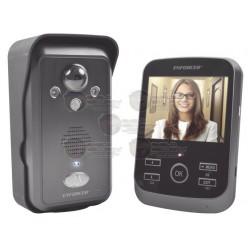 Kit de VideoPortero / Inalámbrico / Exp. a 3 Monitores y 2 Frentes de Calle / Cámara con vision de 170 grados / Sensor PIR / Iluminación IR
