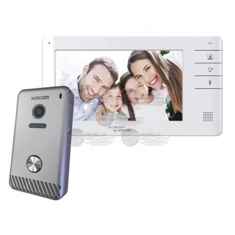 """Videoportero a color de 7""""/ Manos libres / Expandible a 3 monitores"""