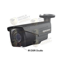 Cámara / Bullet TURBO 1080p / CLIMAS EXTREMOS / Lente Mot. 2.8 a 12 mm / IR EXIR Inteligente 40 mts / Exterior IP66 / Híbrida / WDR Real 120 dB