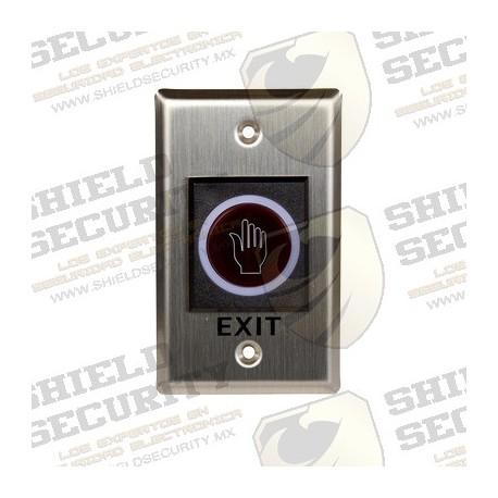 Boton Liberador sin Contacto / Control Remoto / Para Contrachapas / Rango de Deteccion hasta 10 cms. / Para Exterior IP55