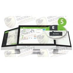 Licencia Vitalicia para 5 Puertas en Control de Acceso / Hasta 2000 Usuarios y 200 Deptos y 200 Áreas