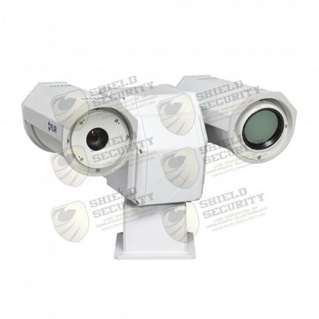 Camara Térmica PT / IP / Analógica / Resolución VGA / Multi-Sensor / Lente 25mm / Para Exterior