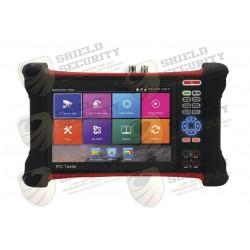 """Probador de Vídeo / Android / LCD de 7"""" / IP ONVIF / HD-TVI 8MP / Análogo / ONVIF / Wi-Fi / Scanner IP / Entrada HDMI"""