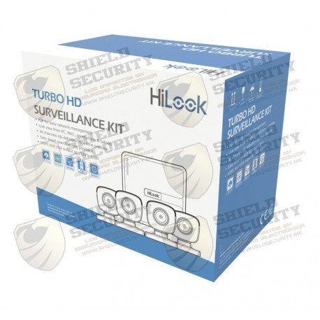 KIT TurboHD 720p / DVR 4 canales / 4 Cámaras Bala de Policarbonato / 4 Cables 18 Mts / 1 Fuente de Poder Profesional