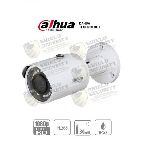 Camara IP Bullet 2 MP/ H.265+ / 30 Fps / Lente de 2.8mm / Angulo de 105 / IR de 30Mts / IP67 / PoE / DWR / HLC