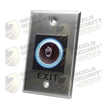 Botón de Salida / Sin Contacto / Sensor IR / Iluminado / N.O. / N.C. / Distancia Ajustable de Detección