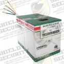 Bobina de Cable / 152 Mts / 18 AWG / 2 Pares / Tipo CM-CL2 / Color Blanco
