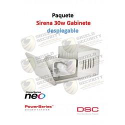 Pack Sirena | Exterior | 30W | Gabinete Desplegable