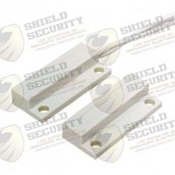 Contacto Seco | Mini | Montaje Adhesivo | N.C | BLANCO | Comp. con Paneles DSC / RISCO / BOSCH