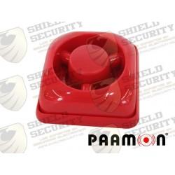 Sirena de Fuego | Plástico | Uso Interior | Alambica | Ideal para Cualquier Sistema de Alarma | Rojo