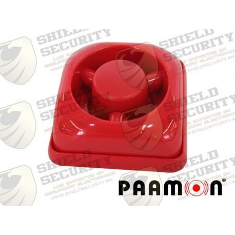 Sirena de Fuego   Plástico   Uso Interior   Alambica   Ideal para Cualquier Sistema de Alarma   Rojo