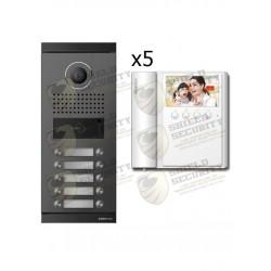 Pack 5 Monitores | CMV43A | 4.3 Pulg. | Incluye Frente de Calle Departamental DRC10ML | Funcion de Apertura de Puerta