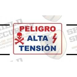Letrero de PELIGRO ALTA TENSION | Para cercas Electrificadas | Alta Durabilidad | Fácil Instalación