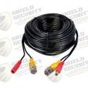 Cable de Extensión de CCTV | BNC + 2.1mm | Cable de Video | Coaxial de CCTV | Sistema de CCTV | 18 Mts.