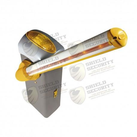 Kit Barrera GARD 4 con Mástil Italiano | Iluminación LED| Pluma de 3.75 m | Cúpula con iluminación LED | Resorte Rojo CAME