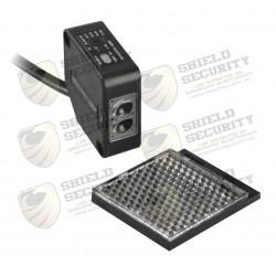 Detector fotoeléctrico de 7 m de alcance | Luz indicadora para alineación