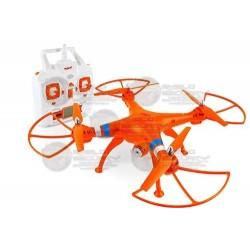 DRONE / CAMARA 2MPX / MEMORIA MICRO SD 4GB  / NARANJA