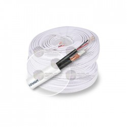 Rollo / 200 Mts. / Cable Coaxial / Siamés / RG59 / Blanco