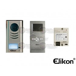 """Kit Videoportero / Frente de Calle / Monitor Aluminio / Pantalla LCD 3.5"""" / Fuente / Manos Libres"""
