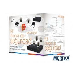 KIT DVR MVA845-08 / 8CH + 4 Cam Domo / 650TVL / MVA301K + Accesorios