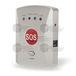 Kit / Sistema Botón de Pánico / SOS inalámbrico con Marcador GSM / Diseño Compacto / Incluye Sirena y Altavoz Alámbricos