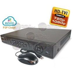 DVR / 4 CH / Tutbo HD TVI / 1080 / 720p / WD1 / EZVIZ P2P / 1 HDD SATA 4TB / HDMI / VGA
