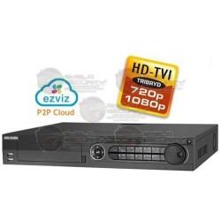 DVR / 16 CH / Turbo HD TVI / 1080p / 720p / WD1 / EZVIZ P2P / 4 HDD SATA 4TB / HDMI / VGA