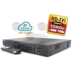 DVR / 8 CH / Turbo HD V3 / 1080p / AHD 720p / IP + Análogo / EZVIZ P2P / 2 HDD SATA 4TB / HDMI / VGA