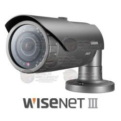 Camara / Bullet IP / 2 Mpx / 1080p / 3.8 mm / Serie WiseNet III / WDR 120dB / IR LED's / 10 mts / IP66