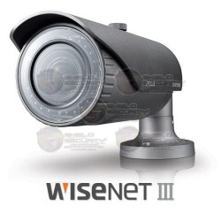 Camara / Bullet IP / 3 Mpx / 1080p / Varifocal / 3-8.5mm / WDR 120dB / Videoanálisis / WiseNet III / IP 66 / IR LED's / 30 mts