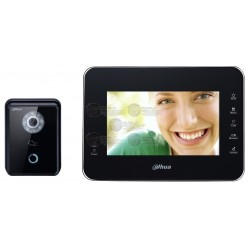"Kit Videoportero + Frente de Calle / IP / LCD Touch de 7"" Pulg. / Camara 1 MP / Ranura SD 4GB / IP65"
