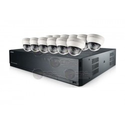 Kit CCTV / IP / NVR 16 CH / 12 Cam IP / Domo / 2 Mpx / HD / IR / DWDR / 3.6mm / Wisenet Lite / Accesorios
